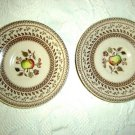 2 Johnson Bros. Old Granite Fruit Sampler Saucers