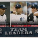 2009 Upper Deck Team Leaders New York Yankees
