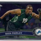 2011 Topps Chrome Nick Fairley Rookie