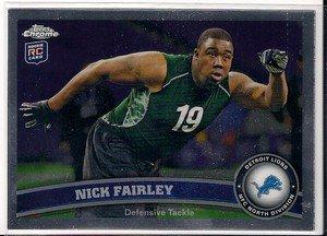2011 Topps Chrome Nick Fairley Rookie