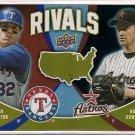 2009 Upper Deck Rivals Josh Hamilton & Roy Oswalt