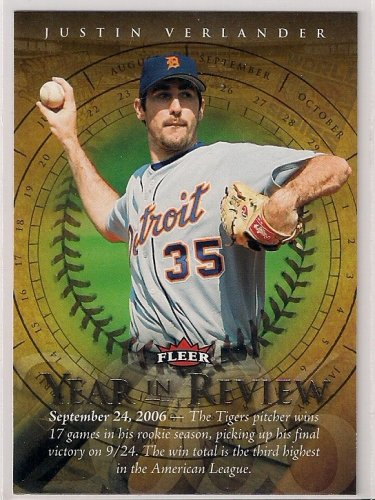 2007 Fleer Year in Review Justin Verlander
