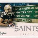 2012 Prestige Draft City Destinations Nick Toon Rookie