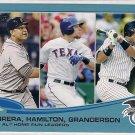 2013 Topps Wal-Mart Blue AL Home Run Leaders Cabrera, Hamilton & Granderson