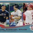 2013 Topps Wal-Mart Blue Border NL Home Run Leaders Braun, Stanton & Bruce