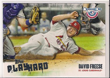 2013 Topps Opening Day Play Hard David Freese