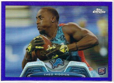 2013 Topps Chrome Purple Refractor Theo Riddick Rookie 398/499