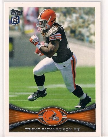2012 Topps Trent Richardson Rookie