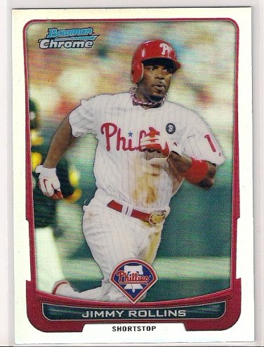 2012 Bowman Chrome Refractor Jimmy Rollins