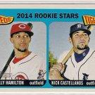 2014 Topps Heritage Rookie Stars Billy Hamilton & Nick Castellanos