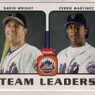 2006 Fleer Team leaders David Wright & Pedro Martinez