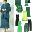 Plus Size Sewing Pattern Easy Knit Dress Top Jacket Skirt Pant Wardrobe 9715 18W-24W