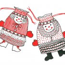 Santa Claus Gift Bags Sewing Pattern Vintage Christmas Holiday 70's Handcrafted Decor