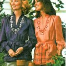Hippie Mod Top Sewing Pattern Vintage Peasant Blouse V-neck Embroidery Belted 4508 Size 12