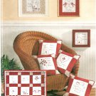 Redwork Craft Sewing Pattern Quilt Pillows Wall Hanging Embroidery Angel Girl House 3554