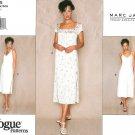 Vogue Dress Sewing Pattern Short Sleeve Spaghetti Strap Spring Summer Designer Marc Jacobs 6-10 1965