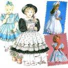 Daisy Kingdom Sewing Pattern Ruffle Dress Girls Pinafore Church Formal Short Long Sleeve 7699 5-6