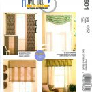 Window Treatments Sewing Pattern Ring Valance Roman Shade Panels Swag Pinch Pleated Easy 5601