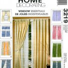 Curtain Sewing Pattern Easy Panels Drapes Tab Top Ties Cafe Pole Mount 3219