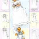 Infant Christening Gown Bonnets Sewing Pattern Boy Girl Romer Baby Dedication 3063