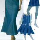 Trendy Skirt Sewing Pattern Gored Godets Straight Flared Frayed Mini Ankle 5429 4-12