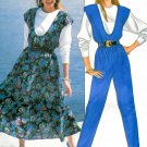 Butterick Vintage Sewing Pattern Jumper Jumpsuit Loose Top Easy Retro Mod Disco 80's 4203 12 14 16
