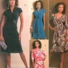 Wrapped Bodice Dress Sewing Pattern Knit Trendy Slim Fit Shawl Collar 5752 8-14