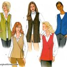 Lined Vest Sewing Pattern Easy Zip Tie Criss Cross Button Front 3200 8-12