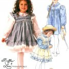Pinafore Dress Sewing Pattern Ruffles Prairie Full Gathered Lace Vintage 4487 3
