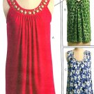 Sleeveless Top Sewing Pattern Trendy Retro Hipster Round V-neck Loose Fit 5586 4-12