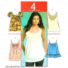 Pullover Top Sewing Pattern Tunic Trendy Sleeveless Tank Baby Doll Easy 5388 6-14