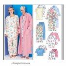 Pajama Tie Robe Sewing Pattern Easy Pant Top Shorts Long Short Sleeve Lounge 3370 XS-M