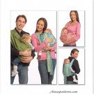 Baby Carrier Sling Sewing Pattern Easy 2 Designs Toddler Infant Peanut Shell Wrap 5678