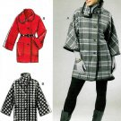 Unlined Jacket Coat Sewing Pattern Trendy Collar Button Front Belted Easy Dolman Sleeve 6445 XS-M
