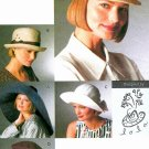 Vogue Sewing Pattern Hats Fedora Beret Newsboy Sunhat Wide Brim Pill Box Hepburn Beach 8928