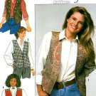 Lined Vest Sewing Pattern Western Hippie Kimono Bavarian Asian Tailored Vintage Brinkley 640 6-12
