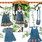 Girls Jumper Dress Sewing Pattern Button Front Ruffle Blouse Heart Star 7015 3 4 5 6