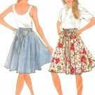 Knee Length Skirt Sewing Pattern Easy Fast Full Gathered Vintage 8999 14 16