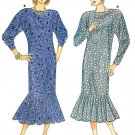 Long Pullover Dress Sewing Pattern Flapper Dolman Sleeves Straight Flounce Vintage 4022 12 14 16