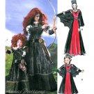 Child Costume Pattern Gown Renaissance Vampire Princess Merida Dress Medieval Elizabethan 6817 3-8