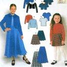 Girls Skirt Sewing Pattern Tops Bolero Jacket Full Circular Easy Above Knee Ankle 9459 3-6