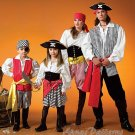 Boy Girl Pirate Costume Sewing Pattern Halloween Dress Up Shirt Pant Skirt Vest Child 3-8 4952