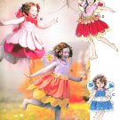 Fairy Costumes Sewing Pattern Halloween Layered Skirt Petticoat Wings 6813 2-5