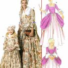 Girls Ball Gown Costume Pattern Colonial Princess Elizabethan Cinderella Halloween 6139 3-8