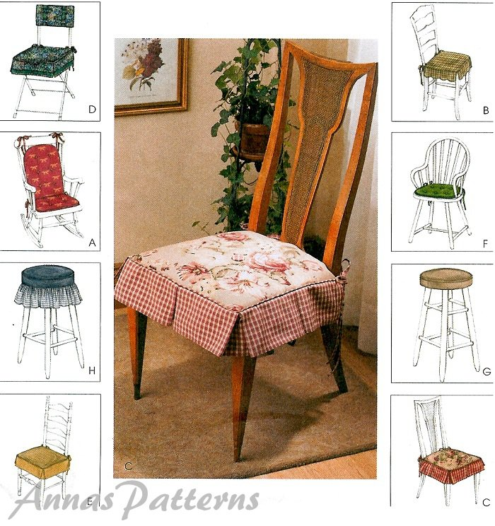 Chair Cushions Covers Sewing Pattern Parsons Rocking Bar