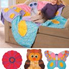 Rag Quilts For Kids Sewing Pattern Owl Butterfly Flower Child Baby Easy Blanket Patchwork 2935