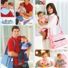 Diaper Baby Bag Sewing Pattern Easy Burp Cloth Tummy Pillow Changing Pad Pacifier Clip Bib 2924