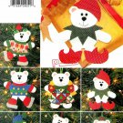Teddy Bear Christmas Ornaments Sewing Pattern Holiday Decor Elf Snow Angel Skating 4604 No Sew