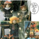 Felt Doll Sewing Pattern Prim Amish Country Halloween Clothes Dress Pants 12 Inch 8763