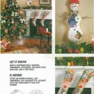 Christmas Tree Skirt Stocking Sewing Pattern Snowman Star Country Prim Vintage Decor 7285